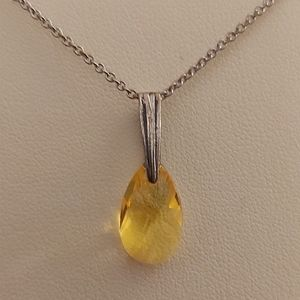 Swarovski Crystal Citrine Necklace